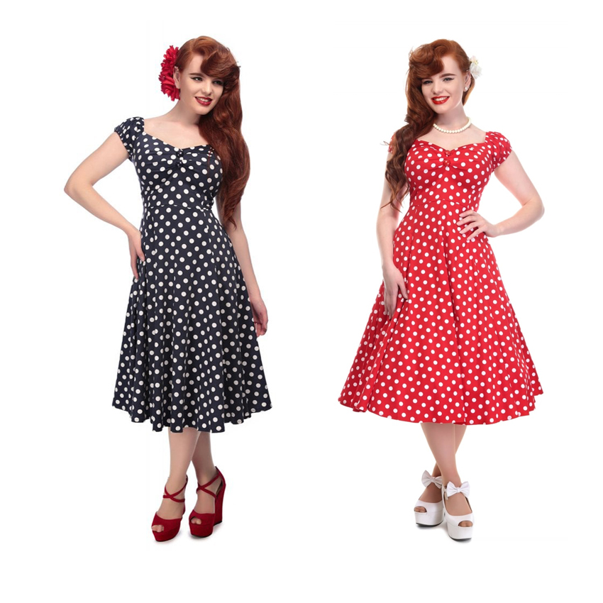 50`s Dress Polka Dot